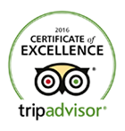 We are certified as excellent by 2016 Tripadvisor users